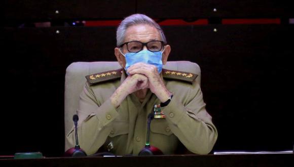 Raúl Castro, primer secretario del Partido Comunista y expresidente, asiste a la sesión inaugural del VIII Congreso del Partido Comunista de Cuba, en el Palacio de Convenciones de La Habana, Cuba, el viernes 16 de abril de 2021. (Foto: Ariel Ley Royero / ACN vía AP )
