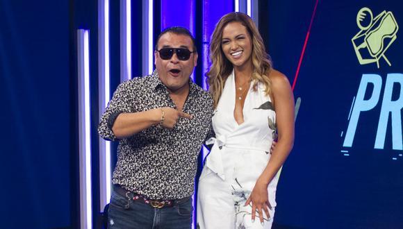 Juan Carlos Orderique aseguró sentirse feliz por reencontrarse con Angie Arizaga en un nuevo programa. (Foto: GEC/ EDUARDO CAVERO)