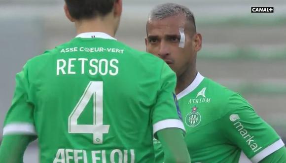 Miguel Trauco debuta en la temporada con Saint-Étienne. (Foto: Canal+)