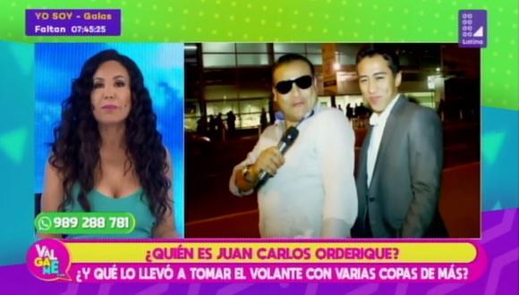 """Janet Barboza comparó a Juan Carlos Orderique con un """"chofer de combi asesina"""". (Foto: captura de video)"""