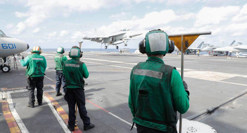 Estados Unidos desplegó un Grupo de Ataque con Portaaviones (CSG) frente a las costas de Florida en medio de tensiones con Venezuela. El grupo lo encabeza el portaaviones USS Abrahm Lincoln (CVN-72). Foto: Facebook @USSLincoln