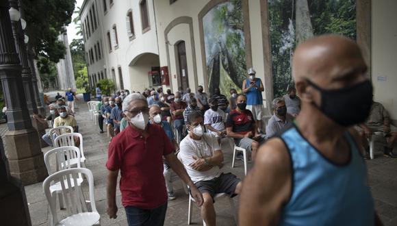 Centro de vacunación contra el coronavirus de Río de Janeiro. (Foto: AFP)