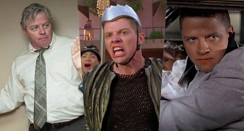 """De izquierda a derecha: Tom Wilson en la actualidad. Derecha: El actor en el papel de Biff, el personaje de """"Volver al futuro""""."""