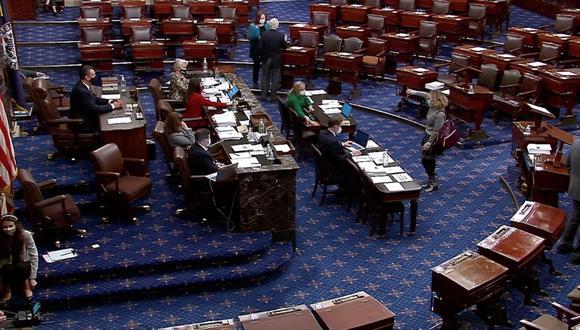 El Senado de Estados Unidos debate la aprobación del aumento del presupuesto, un pedido de Joe Biden. REUTERS