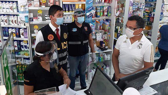Imagen de Piura: Fiscalía y Policía intervienen farmacias para evitar el acaparamiento de medicinas anti COVID-19. (Foto: GEC)