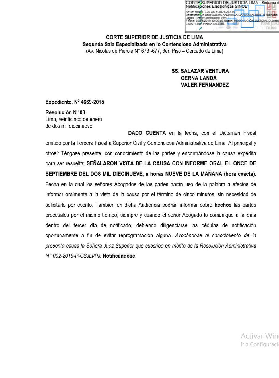 Resolución que convoca a audiencia por apelación de Alianza Por el Progreso (APP)