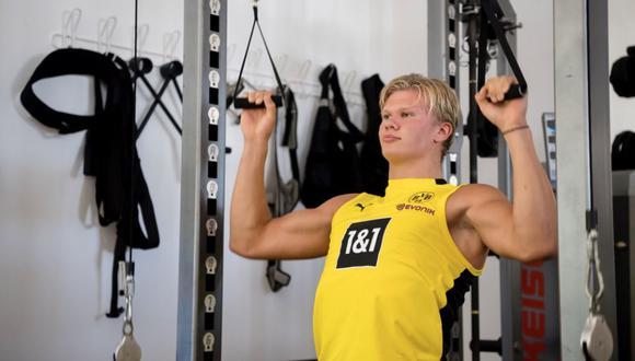 Erling Haaland sufrió un gran cambio físico tras sufrir una lesión cuando estaba en el Molde. (Foto: Instagram)