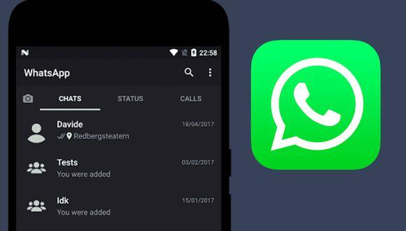WhatsApp prepara el lanzamiento de su modo oscuro. (Foto: WhatsApp)
