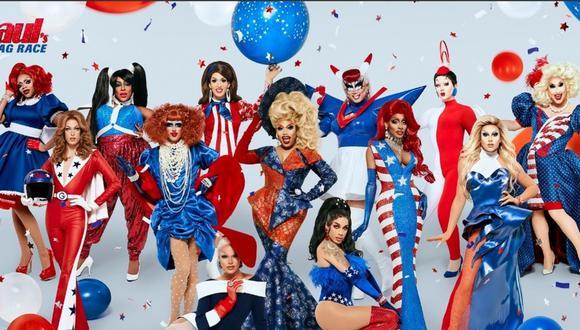 la cuenta de RuPaul's Drag Race compartió las fotografías de las 13 participantes de esta temporada y un video promocional inspirado en los Estados Unidos. (Foto: Twitter/RuPaul's Drag Race)