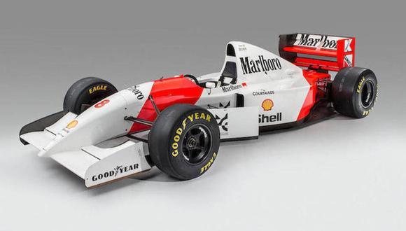 Bernie Ecclestone, expresidente de la F1, fue el millonario que pagó el elevado monto por este monoplaza. (Foto: Bonhams).