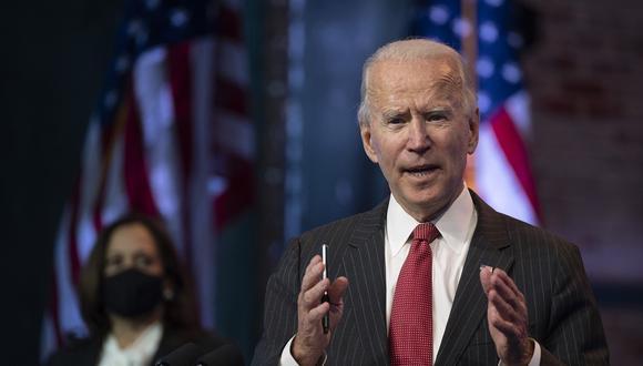 El presidente electo de Estados Unidos, Joe Biden, anunciará el martes 24 a los primeros miembros del gabinete. (Foto: JIM WATSON / AFP).