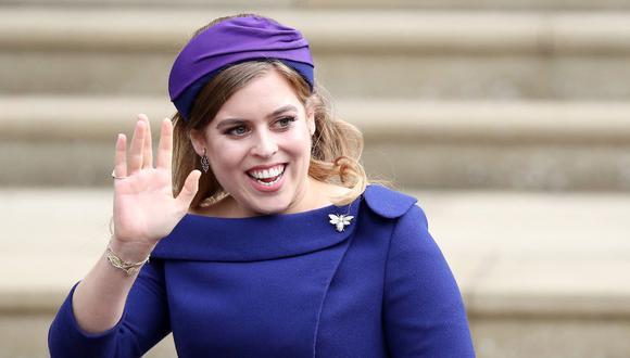 La princesa Beatriz de York anunció su embarazo el mismo día del aniversario de Enrique y Meghan de Sussex. (Foto: AFP)