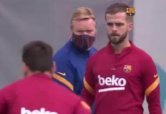 El Barcelona se entrena para enfrentarse al Real Madrid