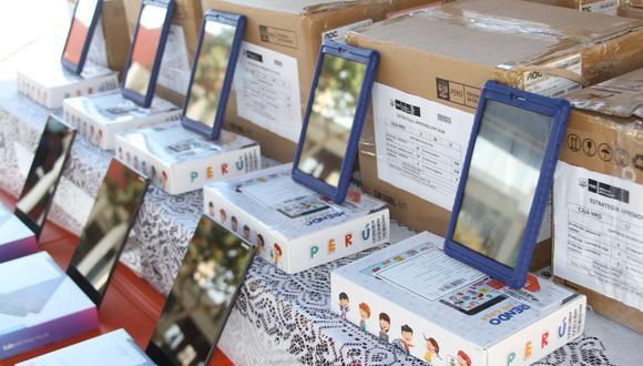 Las unidades fueron repartidas en todo el país para clases virtuales. (Foto: Minedu)