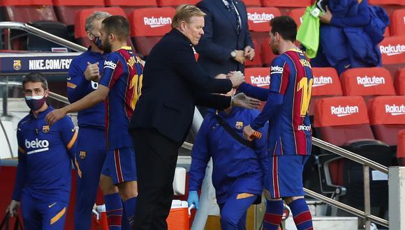 Ronald Koeman y su reacción tras goleada de Barcelona (Foto: AP)