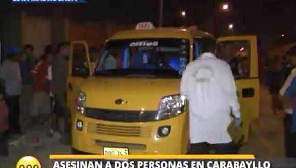 Ataque de sicarios por cupos deja dos muertos en Carabayllo