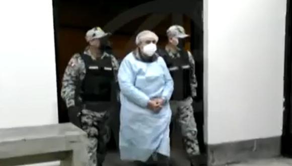 Vladimiro Montesinos permanecía recluido en la Base Naval del Callao y ahora se encuentra en el penal Ancón I donde cumplirá el resto de su condena   Foto: Captura de video / América Noticias
