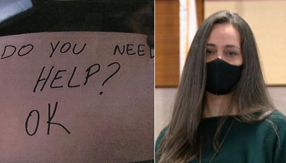 """Con el mensaje """"Necesitas ayuda?, OK"""", la mesera Flavine Carvalho logró rescatar a un niño de once años de sus padres abusivos. (Foto: Twitter  @OrlandoPolice)"""