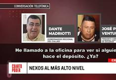 Callao: audios vincularían a Dante Mandriotti con presunto cabecilla de banda criminal
