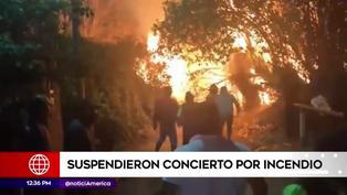 Áncash: suspenden concierto de Marisol por incendio