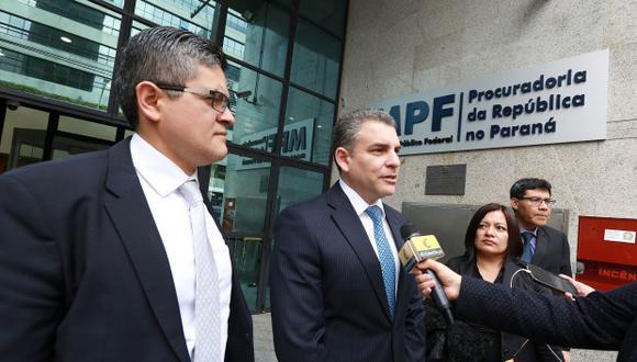 Los miembros del equipo especial viajaron hace unos días a Brasil para interrogar a Jorge Barata y Leao Pinheiro. Entre ellos José Domingo Pérez, Germán Juárez. (Foto archivo El Comercio)