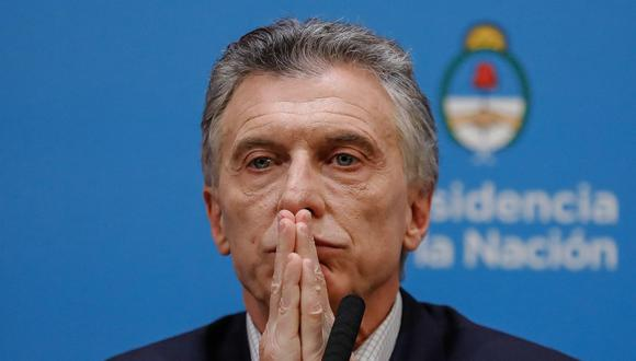 El presidente de Argentina, Mauricio Macri, ofreció una conferencia de prensa desde Casa Rosada un día después de las PASO. (EFE).