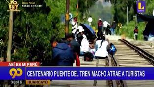 Huancayo: Centenario puente ferroviario atrae a turistas