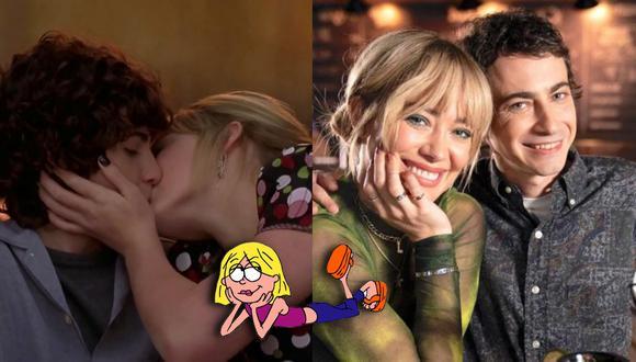 """A la izquierda, Adam Lamberg y Hilary Duff en uno de los momentos más icónicos de la película de """"Lizzie McGuire"""". A la derecha, ambos en una foto promocional de la nueva serie que Disney canceló. (Fotos: Disney Channel/ Disney+)"""