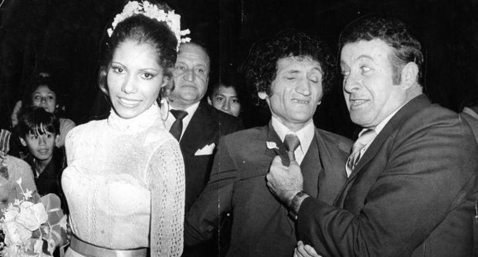 Analí Cabrera y Rodolfo Carrión 'Felpudini' en el día de su boda. (Foto: archivo El Comercio)