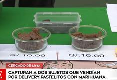 Policía capturó a sujetos que comercializaban pasteles y chocolates con marihuana por delivery | VIDEO