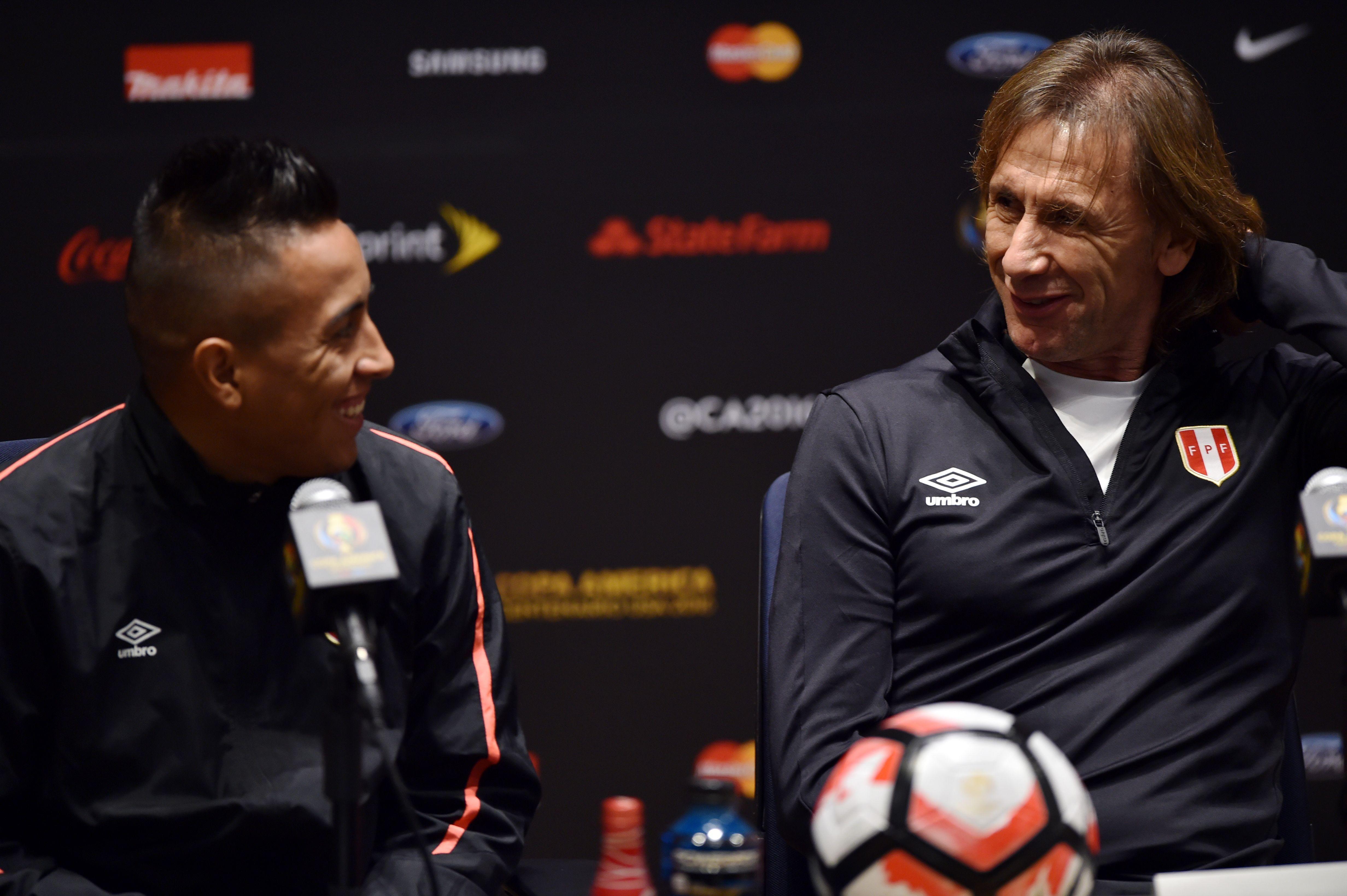 Christian Cueva es el futbolista con más partidos (64) en el proceso de Ricardo Gareca  / AFP / HECTOR RETAMAL
