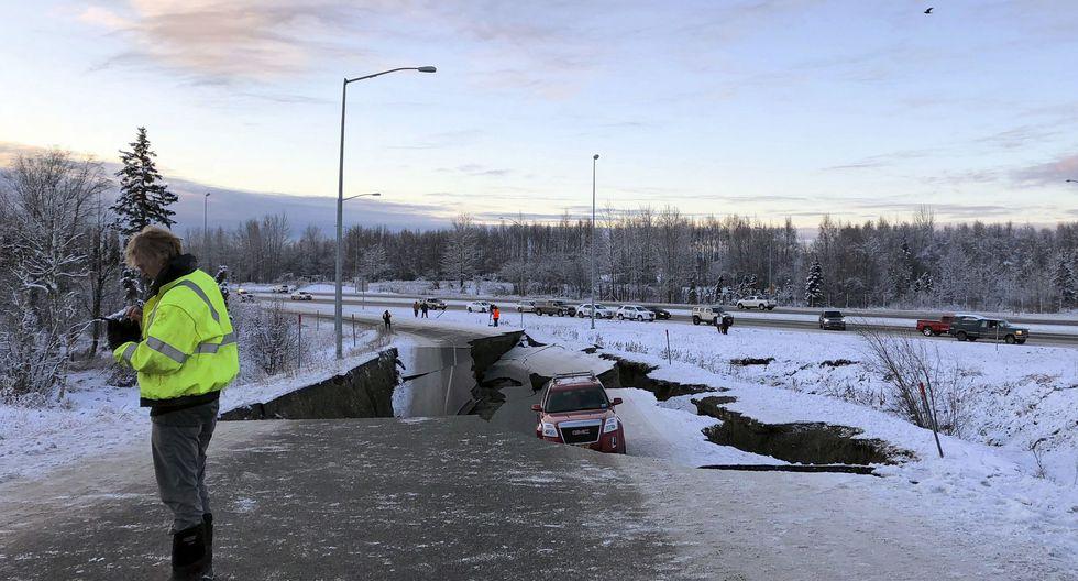 Terremoto en Alaska: potente sismo de magnitud 7 golpea Anchorage. (AP).