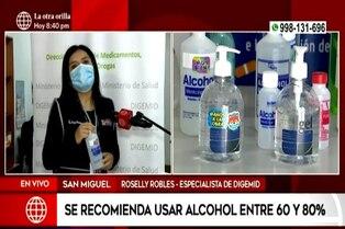 Coronavirus en Perú: ¿Qué grado de alcohol es el correcto para la higiene?