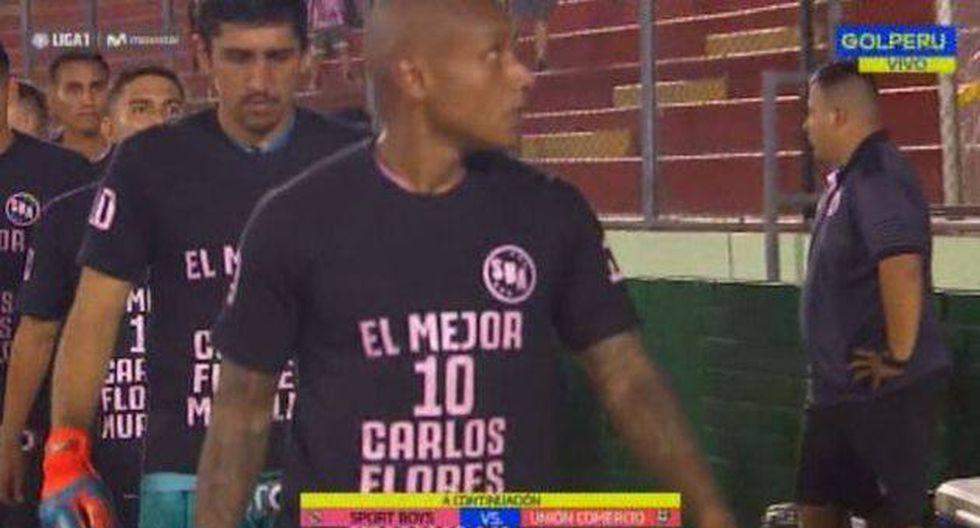 Sport Boys y su merecido homenaje a Carlos 'Kukín' Flores en el estadio Miguel Grau previo al partido contra Unión Comercio por la Liga 1. (Foto: Gol Perú)