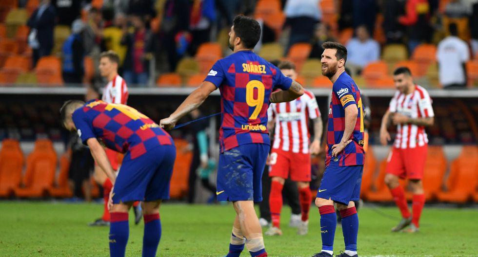 Atlético de Madrid logró el jueves una impresionante victoria 3-2 ante Barcelona para reservar un lugar en la final de la renovada Supercopa española que se disputa en Arabia Saudita, donde enfrentará el domingo en un nuevo derbi al Real Madrid. (REUTERS/Waleed Ali)