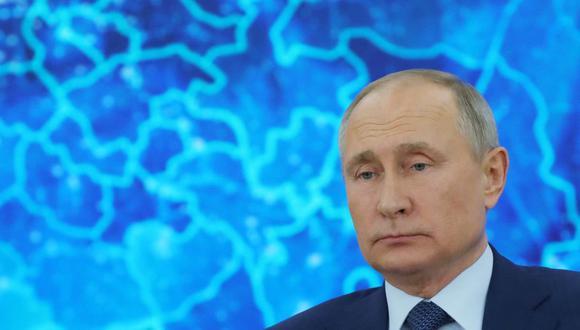 "Vladimir Putin acusa a países occidentales de utilizar a Alexei Navalny para ""contener"" a Rusia. (Foto: Mikhail Klimentyev / SPUTNIK / AFP)."