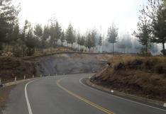 Cajamarca: incendio forestal cerca a Granja Porcón está controlado en un 90%