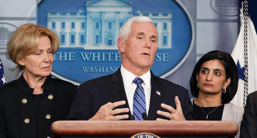 Mike Pence ofreció una conferencia de prensa en el Capitolio sobre las seis muertes que ha dejado el COVID-19. (AFP).