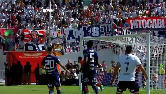 Esteban Paredes regaló un soberbio gol en el U. de Chile vs. Colo Colo. (Foto: captura de YouTube)