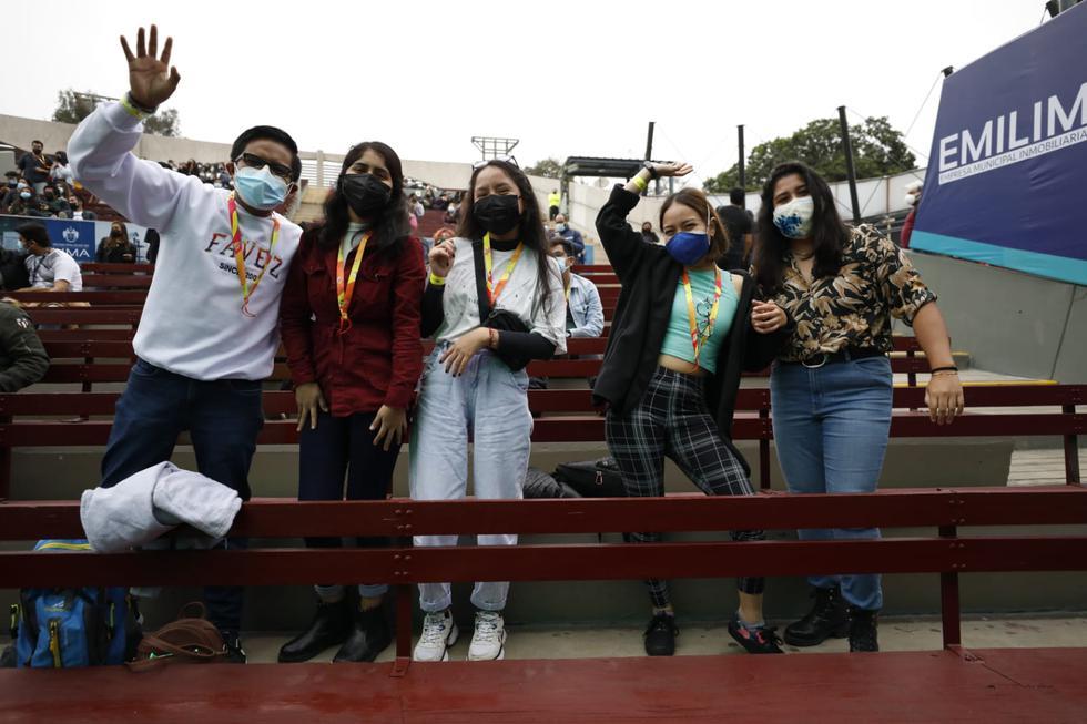 """Este sábado se llevó a cabo el primer concierto presencial con un aforo permitido de 1.000 personas en en el anfiteatro """"Nicomedes Santa Cruz"""" del Parque de la Exposición, en Cercado de Lima, en medio se la segunda ola del coronavirus (COVID-19). (Foto: César Bueno/@photo.gec)"""