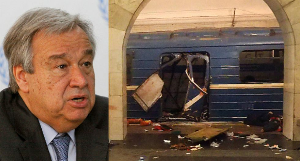 """ONU condena """"cobarde ataque terrorista"""" en San Petersburgo"""