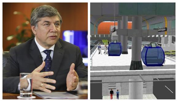 Ministro de Vivienda, Miguel Estrada, señaló que existen condiciones para que se entregue los primeros teleféricos de la capital en el 2022. (Captura)