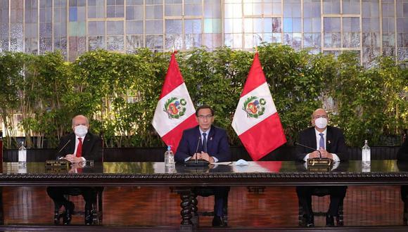 Martín Vizcarra y Pedro Cateriano encabezan hoy el primer consejo de ministros de este gabinete. (Foto: DIfusión)