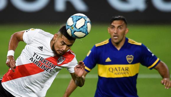 Boca Juniors y River Plate empataron 2-2 en el clásico argentino en la Bombonera   Foto: AFP