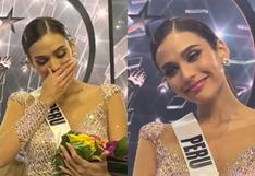 Miss Universo: Janick Maceta y su reacción inmediata tras ser elegida segunda finalista | VIDEO