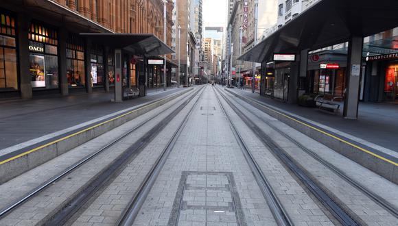 Imagen de Sídney sin personas en la calle. EFE