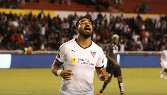 LDU Quito venció a América de Quito con gol del uruguayo Rodrigo Aguirre. (Foto: @LDU_Oficial)