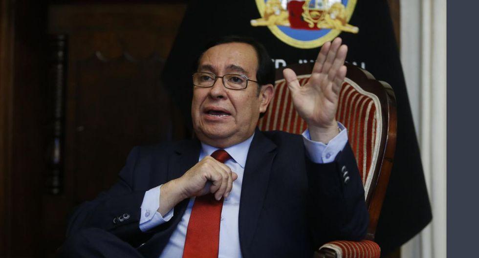 """El extitular del Poder Judicial Víctor Prado Saldarriaga señaló que la institución tendrá que afrontar """"la coyuntura que se presenta"""". (Foto: GEC)"""
