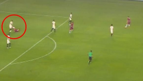 Universitario vs. Melgar: Irven Ávila fue expulsado por agresión sobre Armando Alfageme   VIDEO. (Foto: Captura de pantalla)