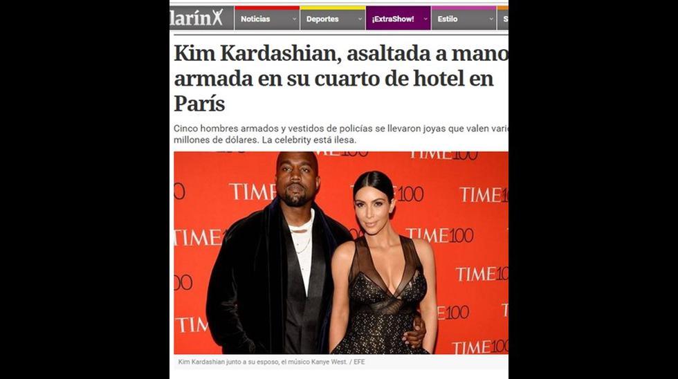 Kim Kardashian: así informó la prensa su asalto en París - 3